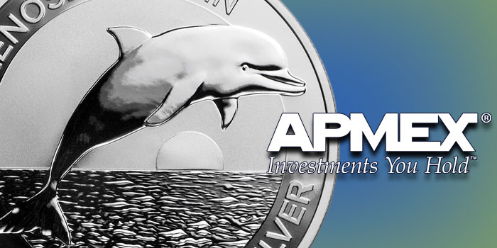 APMEX Dolphin Exclusive Silver Coin 2019