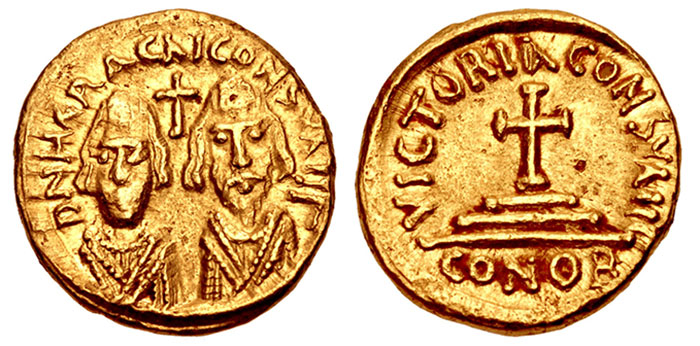 Revolt of the Heraclii. 608-610. AV Solidus