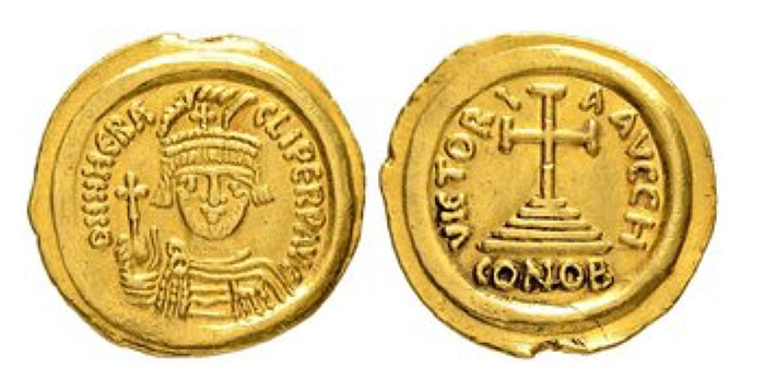 HERACLIUS, 610-641 Mint of Ravenna Solidus