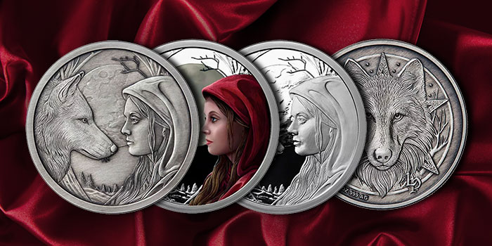 JM Bullion - Lisa Parker Silver Coin - Red Riding Hood
