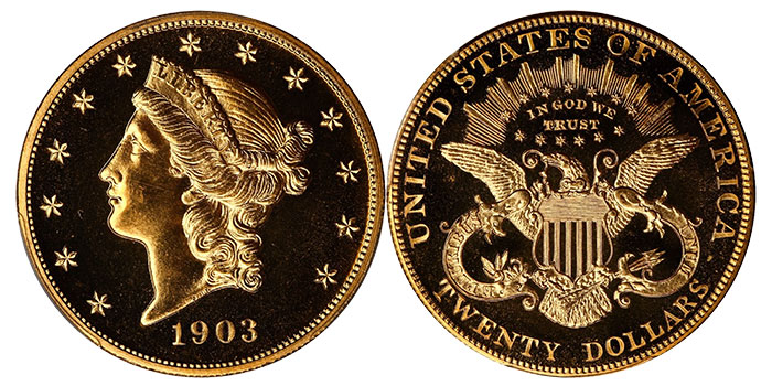1903 Proof Liberty Head Double Eagle - $20 Gold Coin