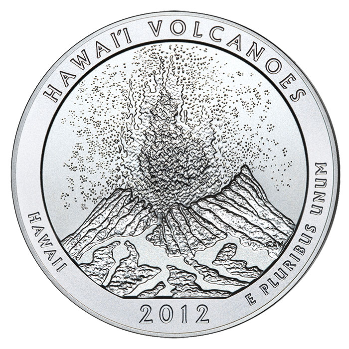 2012-P Hawaii Volcanoes National Park 5-Ounce Silver Coin