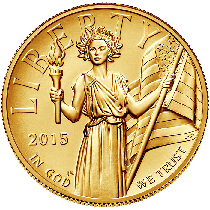 2015-W American Liberty $100 high-relief gold coin