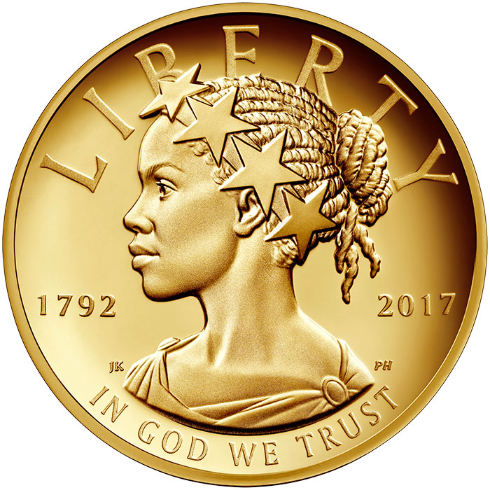 2017-W American Liberty $100 high-relief gold coin
