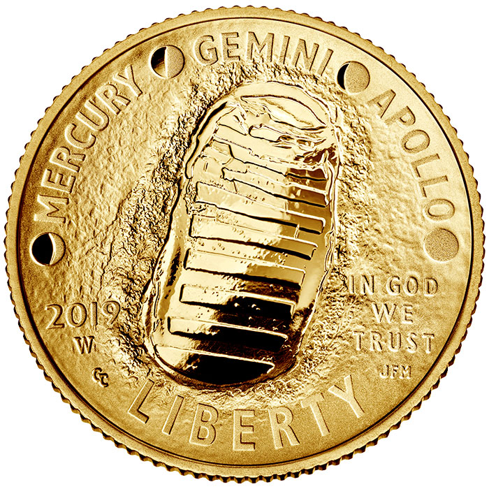 2019 Apollo 11 50th anniversary gold Proof