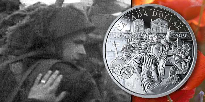 Canada 2019 D-Day Silver Dollar Coin - Unknown Soldier