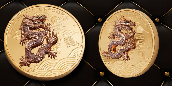 Jeweled Dragon - Perth Mint - 10 Ounce Gold Coin