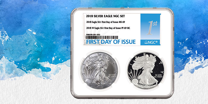 First Day of Issue - NGC Two Coin Holder