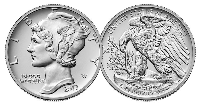2017 American Palladium Eagle Bullion Coin