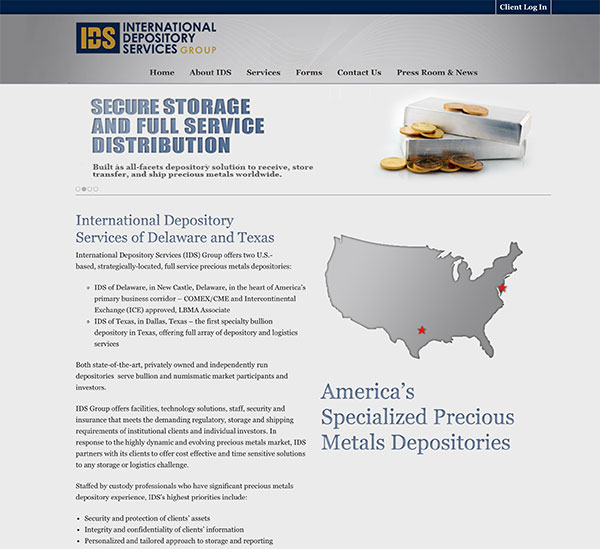 Screenshot International Depository Services Group