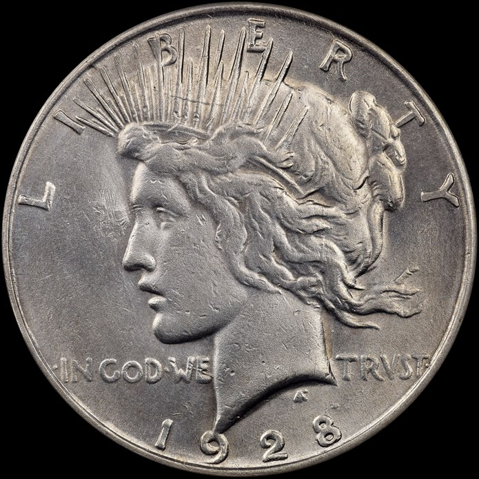 Counterfeit 1928 Peace Dollar. Images courtesy NGC
