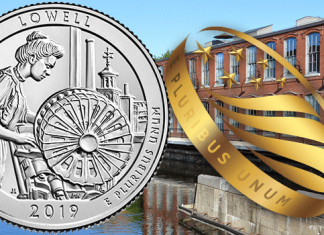 United States 2019 America the Beautiful Quarters - Lowell National Historical Park. Images courtesy US Mint