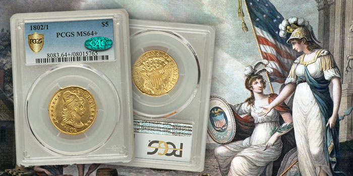 Heritage Auctions 1802/1 $5 Gold Coin
