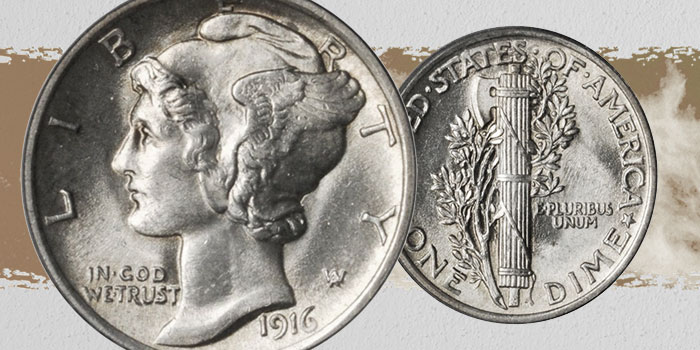 United States 1916 Mercury Dime