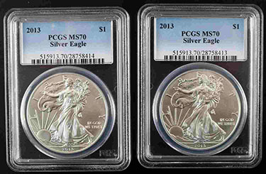 PCGS MS70 American Eagles