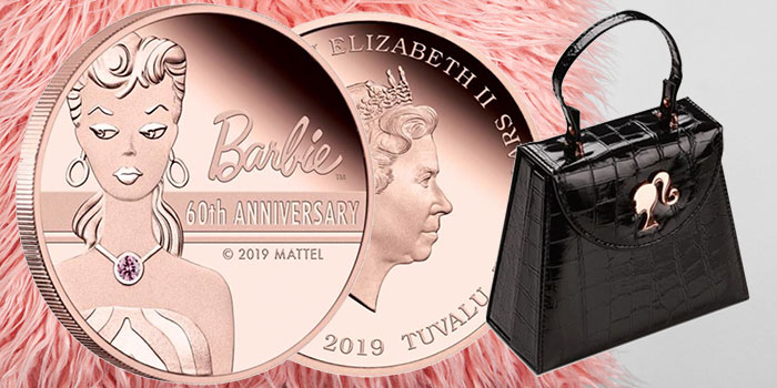Barbie 60th Anniversary 2 Ounce Tuvalu Coin
