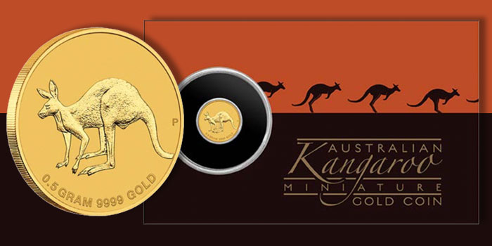 Perth Mint Mini Roo 2019 0.5 Gram Gold Coin