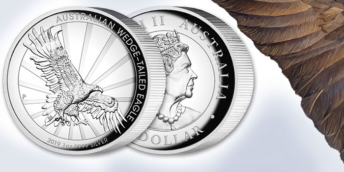2019 1 oz Wedgetail Eagle High Relief Silver Coin - Perth Mint