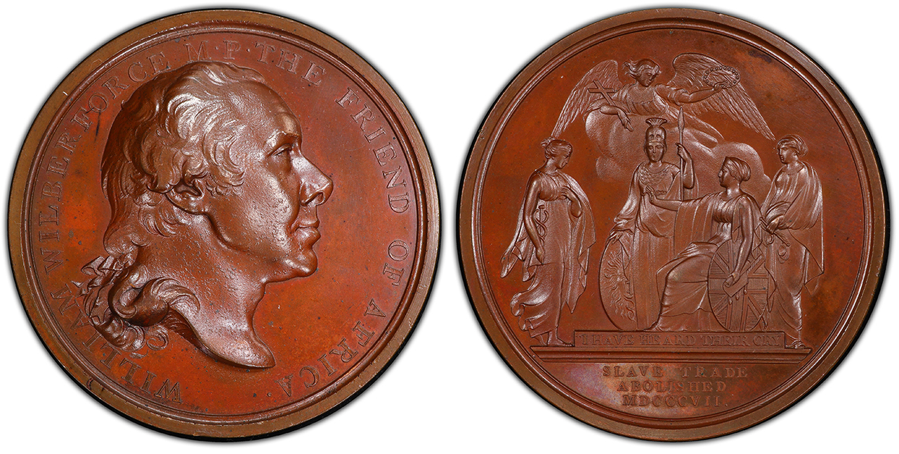 GREAT BRITAIN. 1807 Bronzed AE Medal. PCGS SP65. By T. Webb. Images courtesy Atlas Numismatics