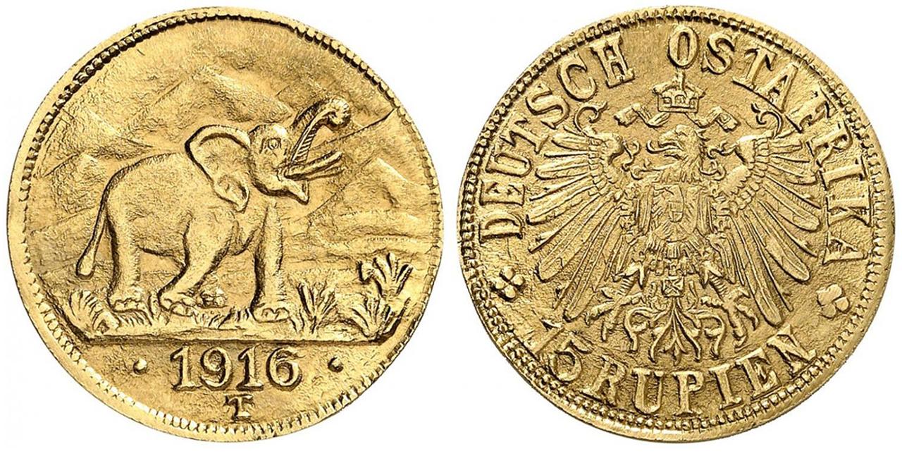 GERMAN EAST AFRICA. Wihelm II. 1916-T AV 15 Rupien. NGC MS65. Images courtesy Atlas Numismatics