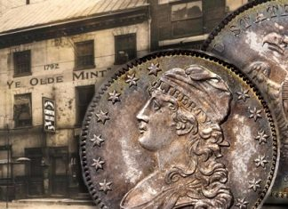 Gem 1834 Capped Bust Quarter, courtesy Stack's Bowers Auctions