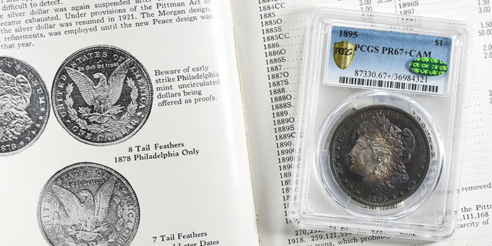 GreatCollections 1895 Morgan dollar in Proof PCGS PR67+CAM CAC