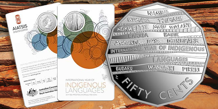 Royal Australian Mint Indigenous Languages 50 Cents 2019