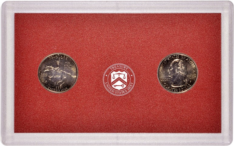First Strike Ceremony 1999 Delaware Quarters, certified by NGC