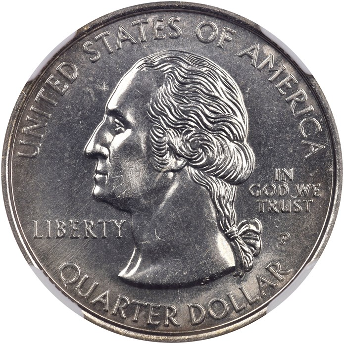 NGC reference coin, 1999 Delaware Quarter, obverse