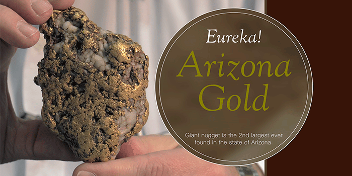 See the Amazing Eureka Gold Nugget, Second Largest Ever Found in Arizona!