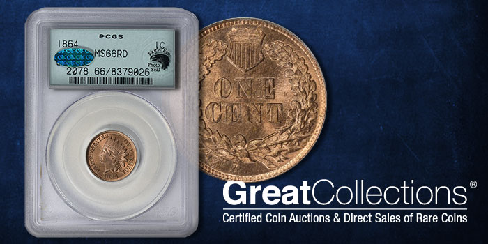 GreatCollections 1864 Cent