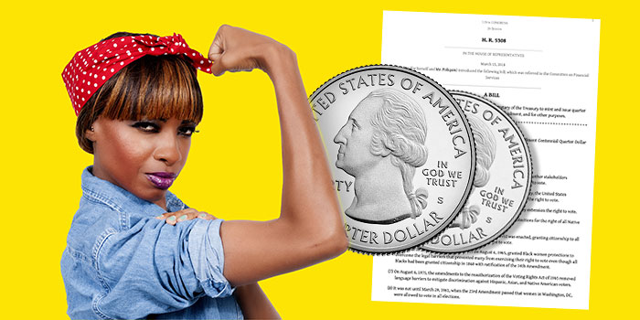 Quarter dollar legislation - American women's history