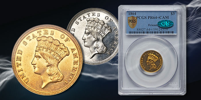 Three Dollar Gold Coin Collection - Heritage Auctions