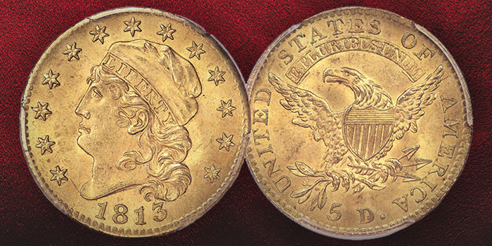 1813 $5 Gold Half Eagle - Heritage Auctions