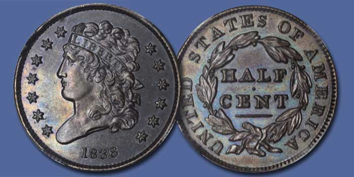 1838 Half Cent Proof - Stack's Bowers