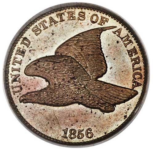 1856 Flying Eagle Cent with Repunched 5 - Image Courtesy of Heritage Auctions