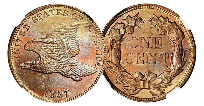 Stack's Bowers sold this 1857 cent with Obverse of '56 for $2,800 at November 2013 Baltimore Auction.