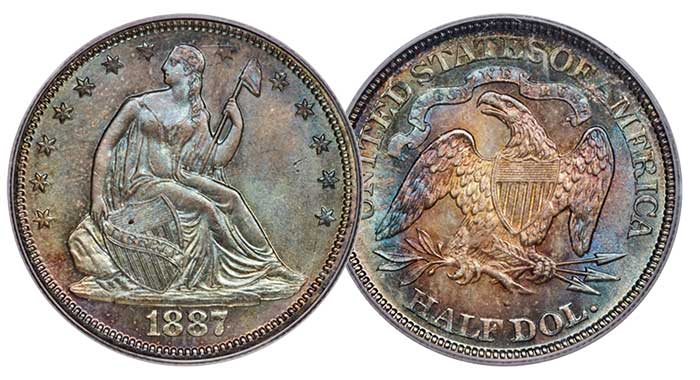 1887 Half Dollar MS67 CAC