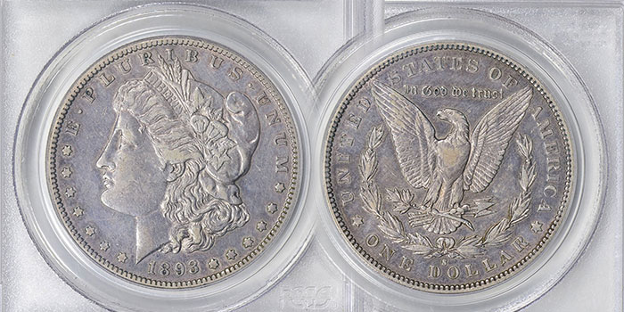 1893-CC Morgan Dollar