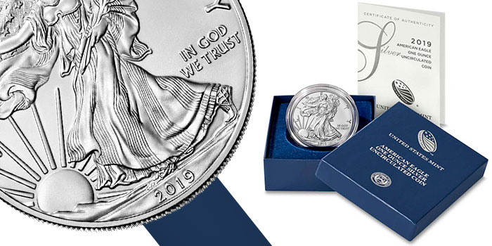 2019 American Silver Eagle Uncirculated Coin