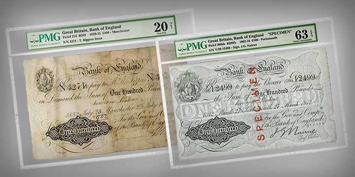 PMG Manzi Collection - Bank of England Banknotes