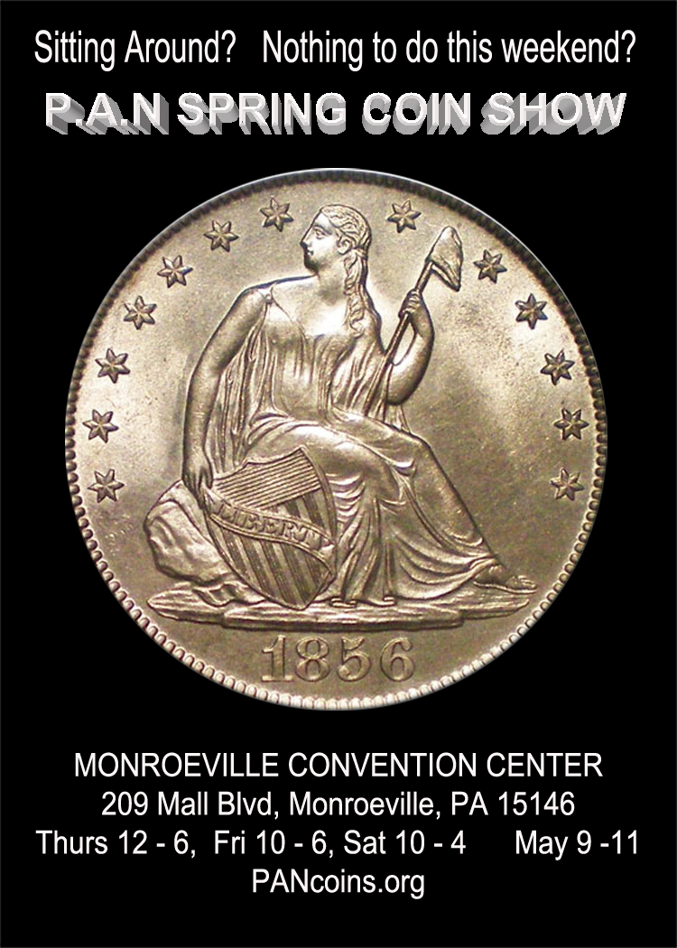 Pennsylvania Association of Numismatists PAN Spring 2019 Coin Show flyer 2
