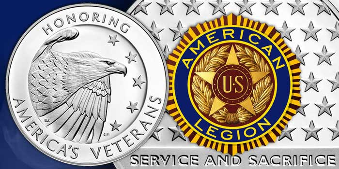 American Legion 100th Anniversary Proof Silver Dollar and