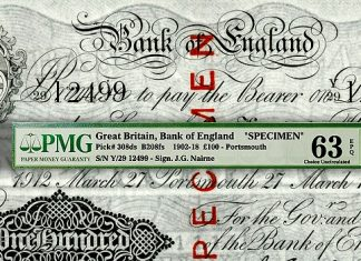 Paper Money Guaranty (PMG) Grades Highlights From Lou Manzi Collection of United Kingdom Banknotes