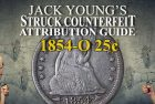 Struck Counterfeit Coins: 1854 Huge O Liberty Seated Quarter