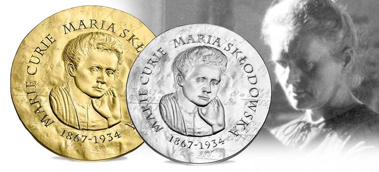 Marie Curie Gold and Silver Coin - Monnaie de Paris