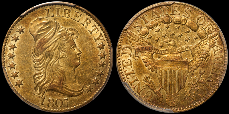 1807 BUST RIGHT $5.00 PCGS AU58 CAC. Images courtesy Doug Winter Numismatics