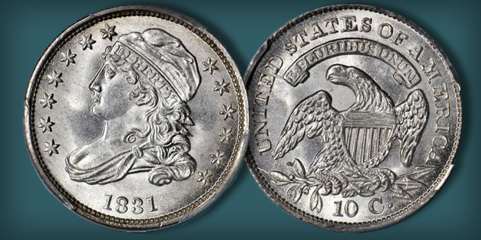 1831 JR-3 Capped Bust Dime - Stack's Bowers