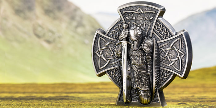Legendary Manannán - 1st King of Isle of Man - on New Silver Coin From CIT