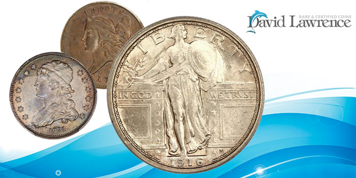 Online classic US coin auction highlights from David Lawrence Rare Coins
